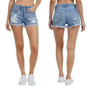 NWT Just USA Jeans Exposed Button Fly High Shorts